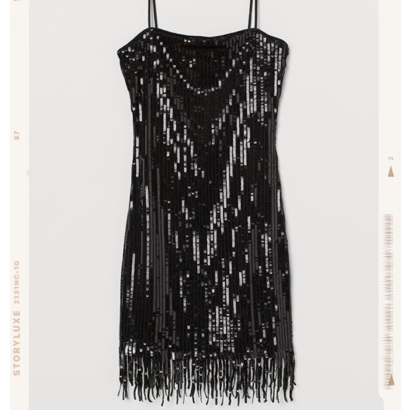 Sequined Dress with Fringe